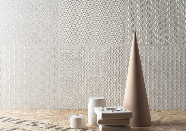 District White Pattern TIles