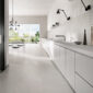 ASHIMA white stone effect porcelain wall and floor tiles